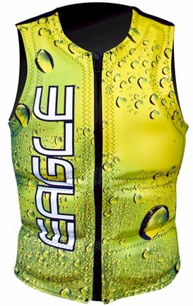 eagle water drops men's ski vest  large only